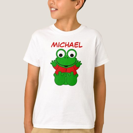 One Year Old Cartoon Frog for Michael T-Shirt