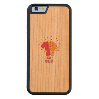 One Year old first Birthday Party Zebsh Carved Cherry iPhone 6 Bumper Case