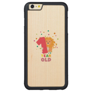 One Year old first Birthday Party Zebsh Carved Maple iPhone 6 Plus Bumper Case