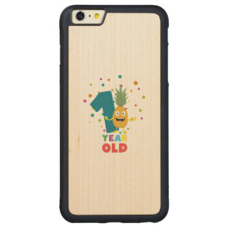 One Year old first Birthday Party Zpuo7 Carved Maple iPhone 6 Plus Bumper Case