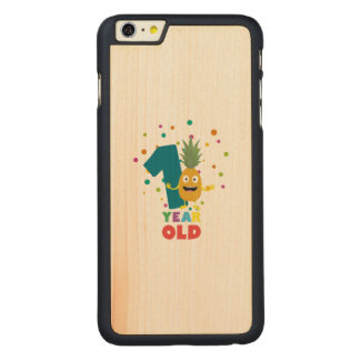 One Year old first Birthday Party Zpuo7 Carved Maple iPhone 6 Plus Slim Case