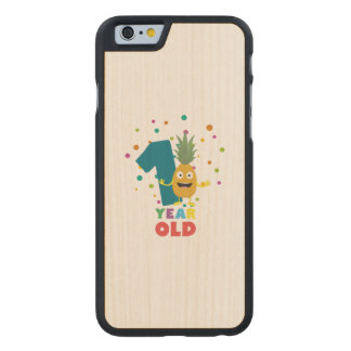 One Year old first Birthday Party Zpuo7 Carved Maple iPhone 6 Slim Case
