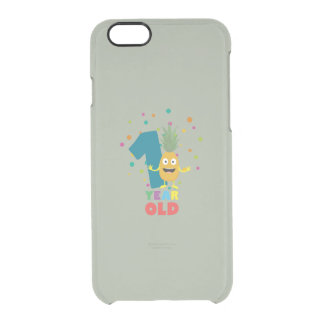 One Year old first Birthday Party Zpuo7 Clear iPhone 6/6S Case