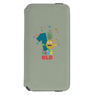One Year old first Birthday Party Zpuo7 iPhone 6/6s Wallet Case
