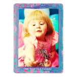 One Year Old  Girls Birthday Photo Cards Business Cards