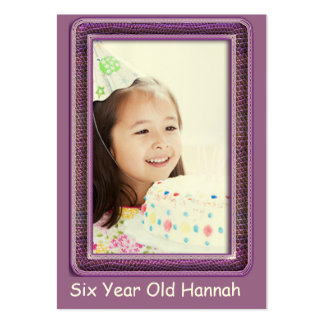One Year Old  Girls Birthday Photo Cards Large Business Card