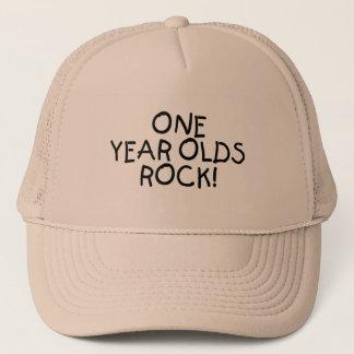 One Year Olds Rock (Black) Trucker Hat
