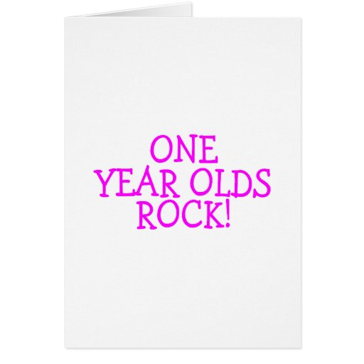 One Year Olds Rock (Pink) Card