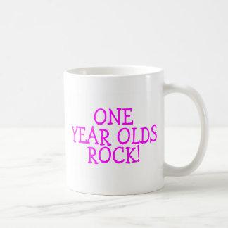 One Year Olds Rock (Pink) Coffee Mug