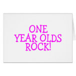 One Year Olds Rock (Pink) Greeting Card