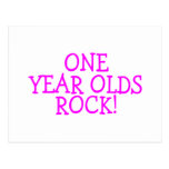 One Year Olds Rock (Pink) Post Cards