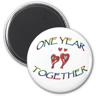 ONE YEAR TOGETHER MAGNET