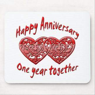 One Year Together Mouse Pad