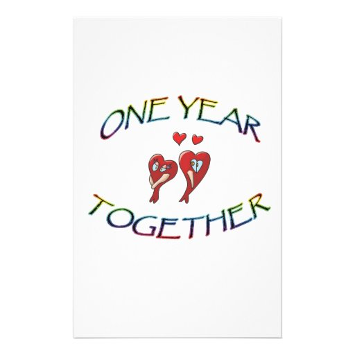 ONE YEAR TOGETHER STATIONERY