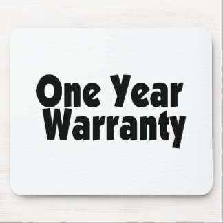 One Year Warranty Mouse Pad