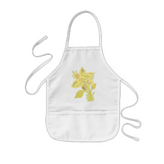ONE yellow flower Kids' Apron