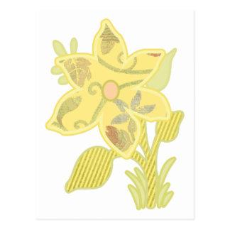 ONE yellow flower Postcard