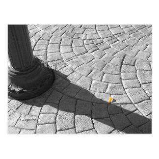 one yellow petal postcard
