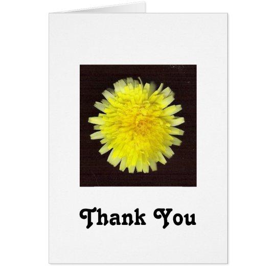 One Yellow Wild Flower Card
