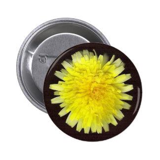 One Yellow Wild Flower Pinback Button