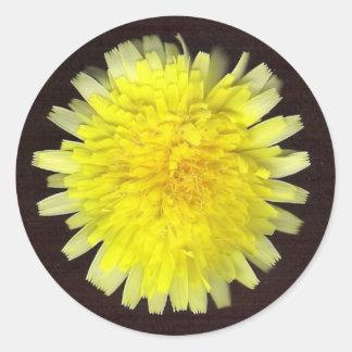 One Yellow Wild Flower Stickers