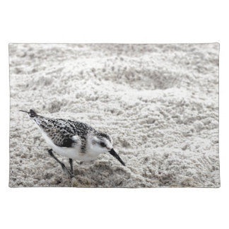 One Young Snowy Plover Bird Cloth Placemat
