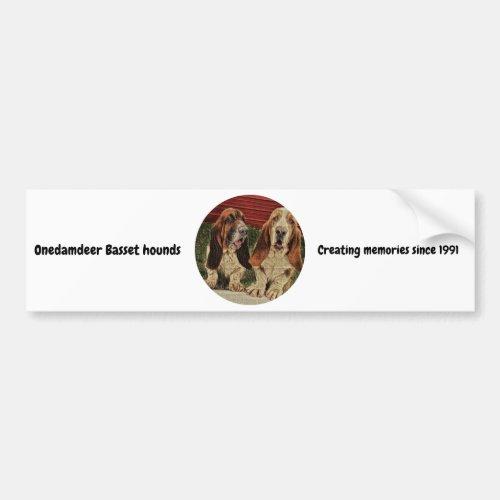 onedamdeer Basset hound bumper sticker