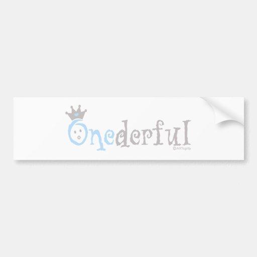 ONEderful BABY (blue) Car Bumper Sticker