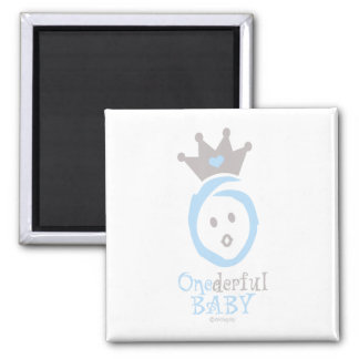 ONEderful BABY (blue) 2 Inch Square Magnet