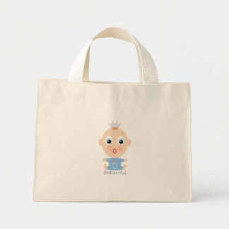 ONEderful BABY Face - blue Mini Tote Bag