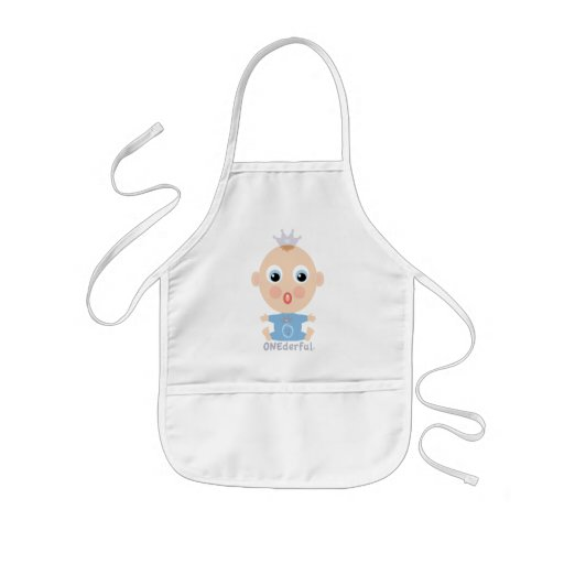 ONEderful BABY Face - blue Kids' Apron
