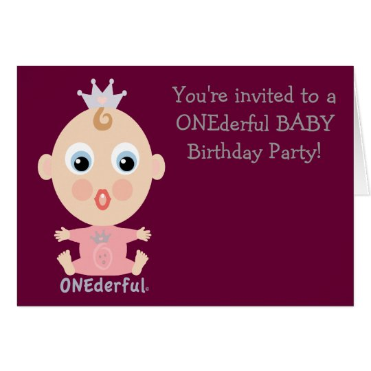ONEderful BABY Face - pink Card