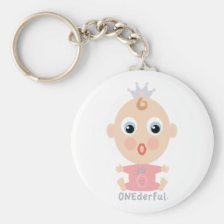 ONEderful BABY Face - pink Keychain