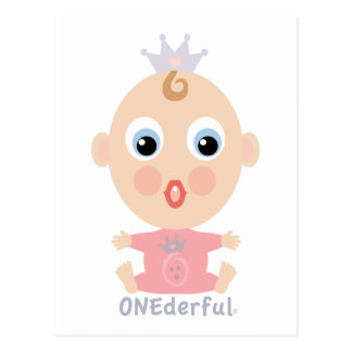 ONEderful BABY Face - pink Postcard
