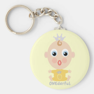 ONEderful BABY Face - yellow Keychain