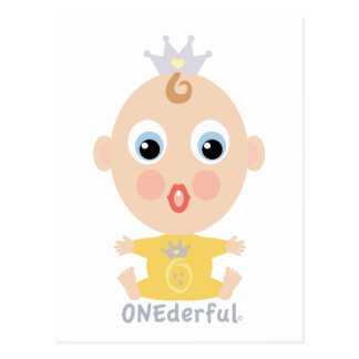 ONEderful BABY Face - yellow Postcard