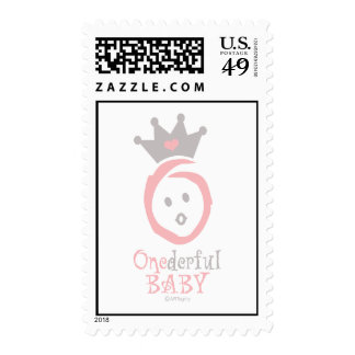 ONEderful BABY (pink) Postage Stamp