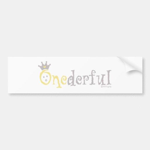 ONEderful BABY (yellow) Bumper Sticker
