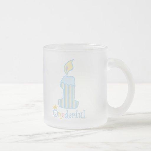 ONEderful Blue Candle Coffee Mug