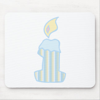 ONEderful Blue Candle Mouse Pad