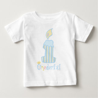 ONEderful Blue Candle Tee Shirt