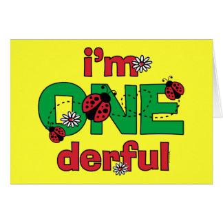 ONEderful Ladybug 1st Birthday Card