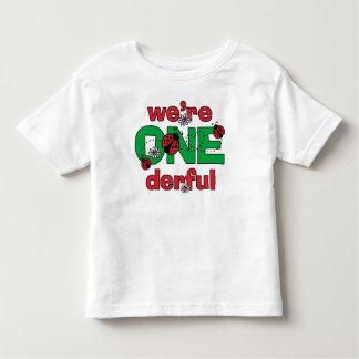 ONEderful Ladybug Twins 1st Birthday Shirt