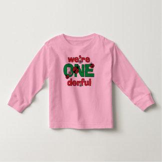 ONEderful Ladybug Twins 1st Birthday T-shirt