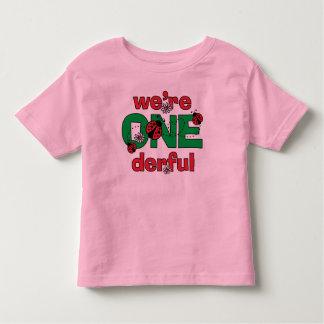 ONEderful Ladybug Twins 1st Birthday Toddler T-shirt