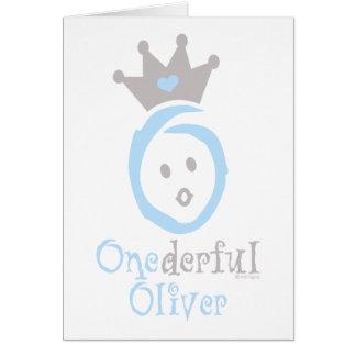 ONEderful Oliver Card