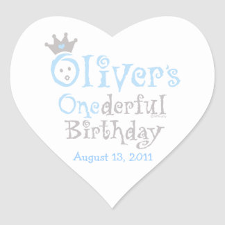 ONEderful Oliver Heart Sticker