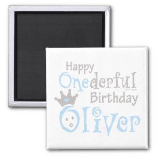 ONEderful Oliver 2 Inch Square Magnet