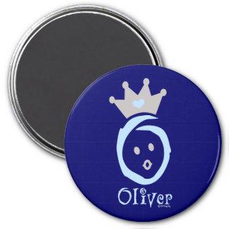 ONEderful Oliver 3 Inch Round Magnet
