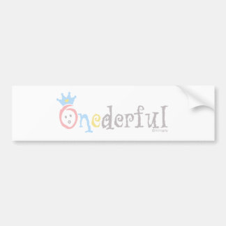 ONEderful (pastel 1) Pegatina Para Auto